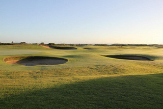 Links Course - treeless, built on Sandy Soil and windy